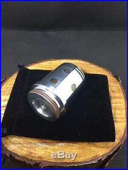 DBL Reverse Calabash Volcano Poker Custom Metal Aluminum Tobacco Pipe Kirsten
