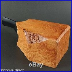 DIAMOND FINISH Tobacco Pipe Briar Wood Block BBB Pre Drilled Beginner DIY Kit
