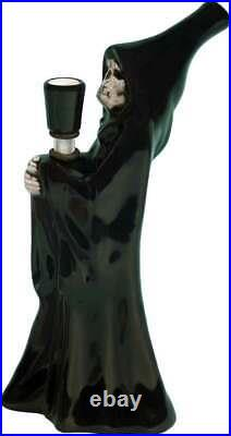 Death Grim Reaper Skull Water Hookah BLACK Ceramic Glass Tobacco Pipe #1809 USA