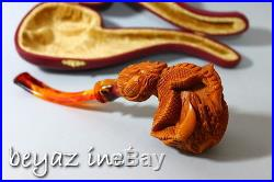 Dragon Embossed Eagle Claw Meerschaum Smoking Pipe Pfeife Pipa By Karahan