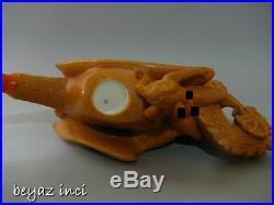 Dragon & Lady Collectible Meerschaum Smoking Pipe Pfeife Pipa By Karahan