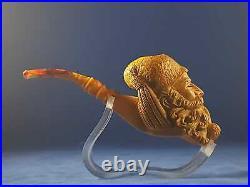 Dunhill Meerschaum Pipe, Old Man Smoking Pipe, Turkish Meerschaum