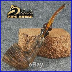 EXCLUSIVE BALANDIS ORIGINAL Briar Handmade SMOKING PIPE AFRICA MARBLE smooth
