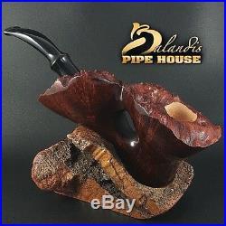EXCLUSIVE BALANDIS ORIGINAL Briar Handmade SMOKING PIPE BARON FLOWER PLATEAU