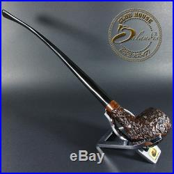 EXCLUSIVE HAND MADE CARVED BRIAR LONG smoking pipe COWHERD Churchwarden LOTR