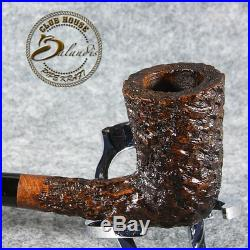 EXCLUSIVE HAND MADE CARVED BRIAR LONG smoking pipe GALHAR Churchwarden LOTR