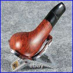 EXCLUSIVE HAND MADE SMOOTH BRIAR wood smoking pipe teak MT OMEGA