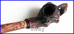 EXTRA-LONG Hand Carved Tobacco Smoking Pipe CLAW + GIFT Metal Filter-Cooler