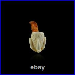Eagle claw Meerschaum Pipe hand carved smoking tobacco pfeife with case