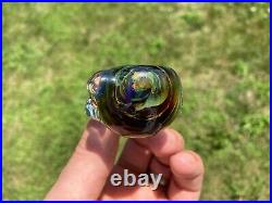 Electroform x3 Opal THICK Metal Heady Crystal Glass Tobacco Pipe