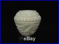 Embossed Floral Apple Meerschaum Pipe Long Shank smoking pipes by Emin eBay 0537