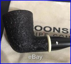 Estate Moonshine Pipes Sandblasted Stubby Dublin with Juma Ring Tobacco Pipe
