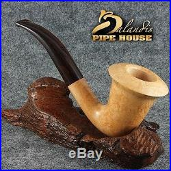 Exclusive BALANDIS original Briar Handmade Tobacco smoking pipe CALABASH Natural