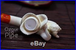 Flower Bowl Nude Girl Meerschaum Tobacco Pipe / Smoking Pipe Handcarved Pfeife