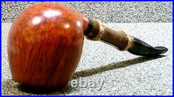 GABRIELE DAL FIUME Grade D, Staright Grain withBamboo Smoking Estate Pipe
