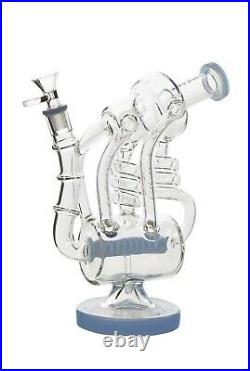 Gangster Glass 10 INLINE RECYCLER Glass Bong, Hookah Water Tobacco Pipe