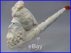 Giant Ottoman Sultan Saxophone Meerschaum Smoking Pipe Pfeife By E. Tutkan