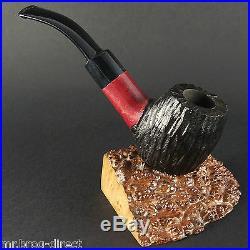Hand made GREY HOUSE original smoking pipe no. 40 red carved SKOG