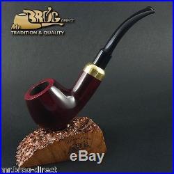 Hand made Mr. Brog original smoking pipe nr. 24 BENT ARMY Rubin smooth classic