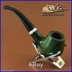 Hand made Mr. Brog original smoking pipe nr. 82 Green CONSUL briar RARE