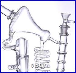 Handmade Grace glass bongs female joint oil rigs bubbler 30cm smoking pipe