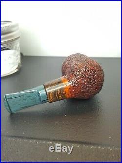 Handmade Rusticated Tobacco Pipe Flatlander Studios