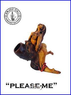 Handmade Tobacco Pipe Art Collectible Smoke functional PleaseMe Collection