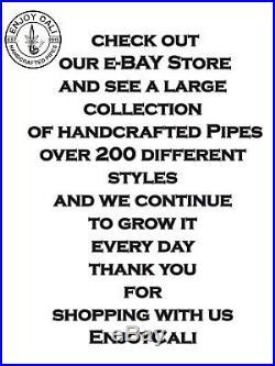 Handmade Tobacco Pipe Art Collectible Smoke functional RastaweedEye Collection