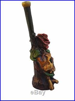 Handmade Tobacco Pipe Art Collectible Smoke functional Skull&Roses Collection