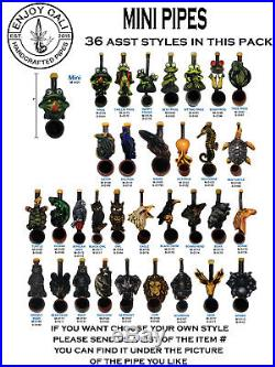Handmade Tobacco Pipe Collectible Smoke functional Mini Collection LOT36
