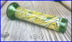 Heady Glass Pipe And Chillum One Hitter Tobacco Pipe Matching Set Borosilicate
