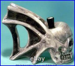 Hells Gate Demon Skull Water Hookah Bong Tobacco Pipe Ceramic Glass Rumph #1856