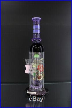 Hookah 12inch DD 004 Purple Water Pipe Heavy Glass Pipe Glass Smoking Pipe Glass
