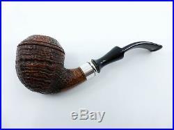 Il Ceppo Sandblast Bent Rhodesian with Silver Shank Briar Tobacco Pipe NEW 00029