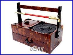 Japanese Kiseru Smoking Pipe Holder Nambu Iron Ashtray Case Made in Japan F/S