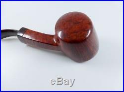 Jorgen L Bent Blowfish Smooth Grade E Briar Tobacco Pipe NEW UNSMOKED