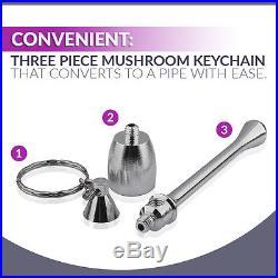 LOT of 100 Aluminum Reusable Mushroom Smoking Tobacco Keychain Pipe-FREE SHIP