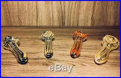 LOT of 50 Glass Tobacco Smoking Herb Glass Hand Pipe Best Thick Quality Glass