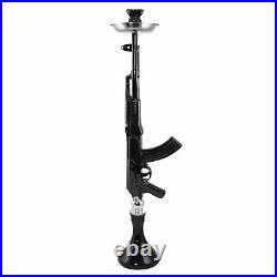Large Black AK-47 Mod Hookah Shisha Gun AK47 Smoking Pipe