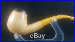 Lee Van Cleef Meerschaum Pipe with fitted Case, Smoking Pipe, Block Meerschaum