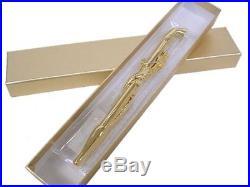 Luxury Kiseru Smoking Pipe Big Dragon Handmade in Japan 24-Gold Coating EMS F/S