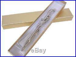 Luxury Kiseru Smoking Pipe Big Dragon Handmade in Japan Platinum Coating EMS F/S