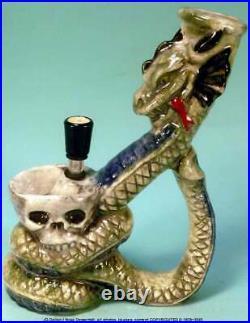 Magic Fantasy Dragon Skull Ceramic Rumph Water Hookah Bong Tobacco Pipe 1875 USA