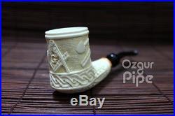 Masonic / Freemasonry Handmade Meerschaum Smoking Tobacco Pipe Pfeife Pipa