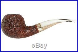 Mastro De Paja Cinque Terre 400 Tobacco Pipe Sandblast Bent Apple