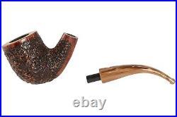 Mastro De Paja Pompei 200 Tobacco Pipe Rustic Bent Billiard