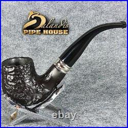 Mr. BALANDIS EXCLUSIVE HAND MADE CARVED BRIAR wood smoking pipe BENT SAUL JOUDA