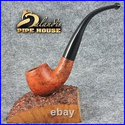 Mr. BALANDIS HAND MADE Smooth Waxed BRIAR wood smoking pipe SMALL HOLMES Teak