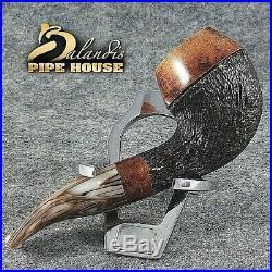 Mr. BALANDIS original Handmade Tobacco Briar wood smoking pipe MARCAN Nussbrown