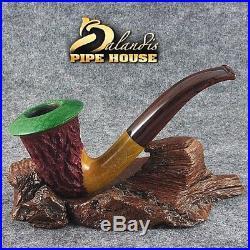 Mr. Balandis Original Briar Handmade Tobacco smoking pipe CALABASH RASTA Colors